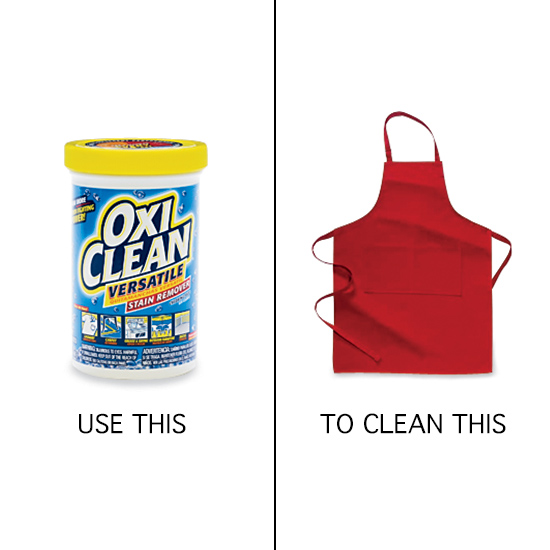 Use OxiClean to Clean Aprons