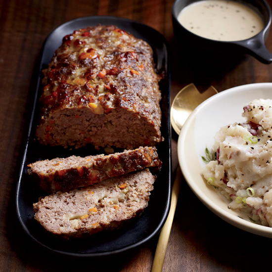 Meat Loaf with Creamy Onion Gravy