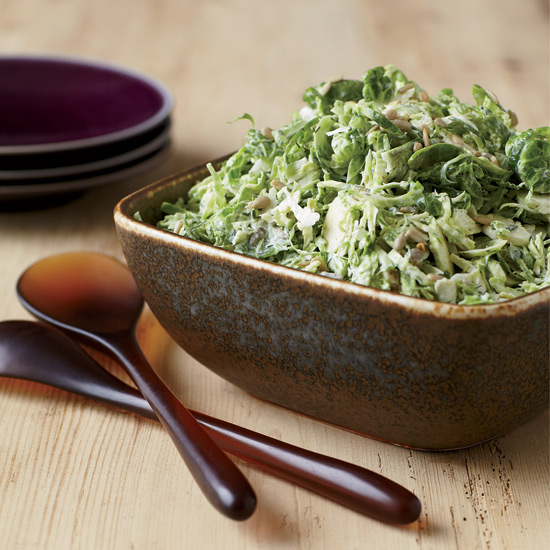 Lemony Brussels Sprout Slaw