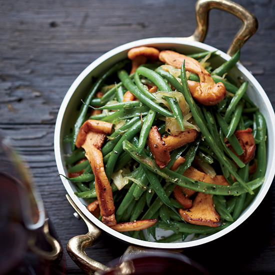 Haricots Verts with Chanterelles