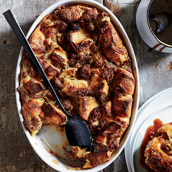 Sausage-and-Maple Bread Pudding