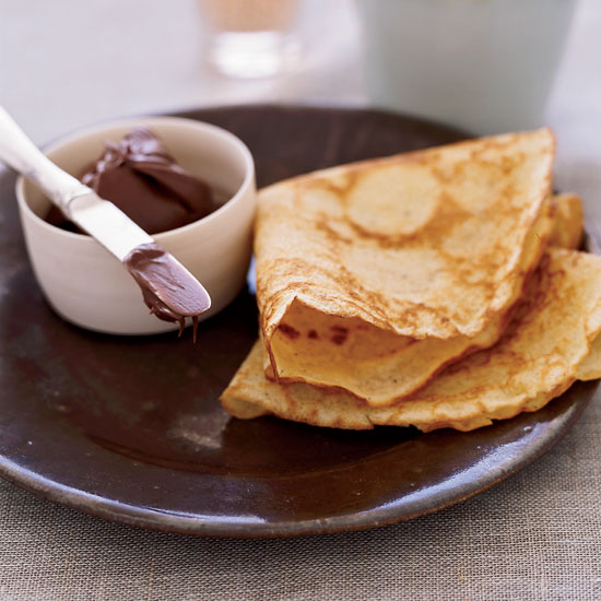 Brown-Butter Crêpes with Nutella and Jam