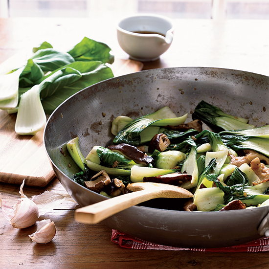 Stir-Fried Bok Choy with Shiitake Mushrooms