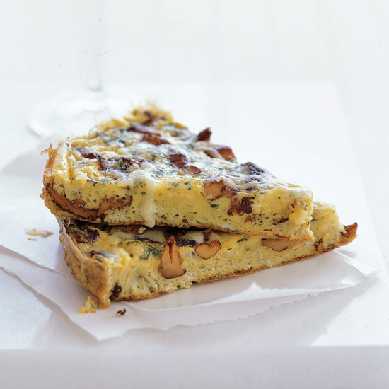 Chanterelle and Fontina Frittata