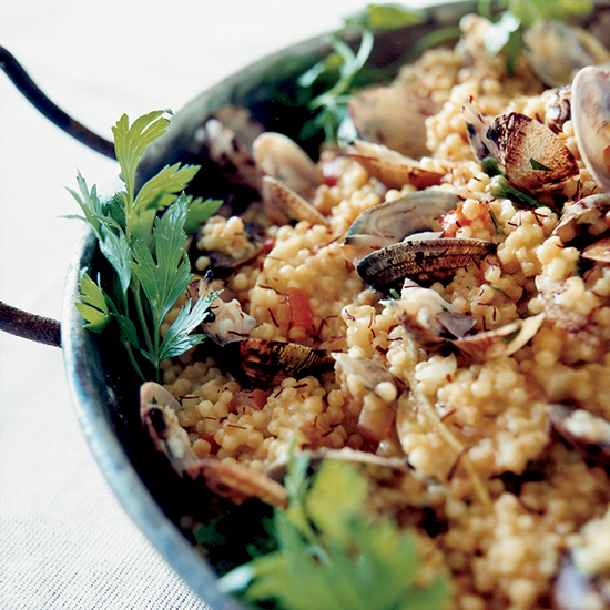 Shellfish Paella with Fregola