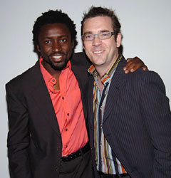 Ted Allen of television's <em>Queer Eye for the Straight Guy</em> with DJ Tony.