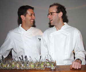 "Chefs <a href=""/best_new_chefs/mike-anthony"">Mike Anthony</a> and <a href=""/best_new_chefs/dan-barber"">Dan Barber</a>, BNC 2002 (Blue Hill and Blue Hill at Stone"