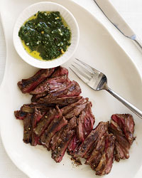 Mark Bittman's Grilled Skirt Steak with Chimichurri Sauce