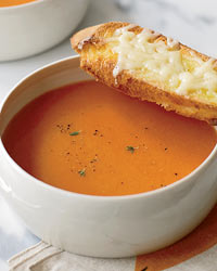 Smoky Tomato Soup with Gruyère Toasts