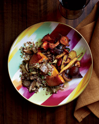 Squash Stuffed with Quinoa and Wild Mushrooms