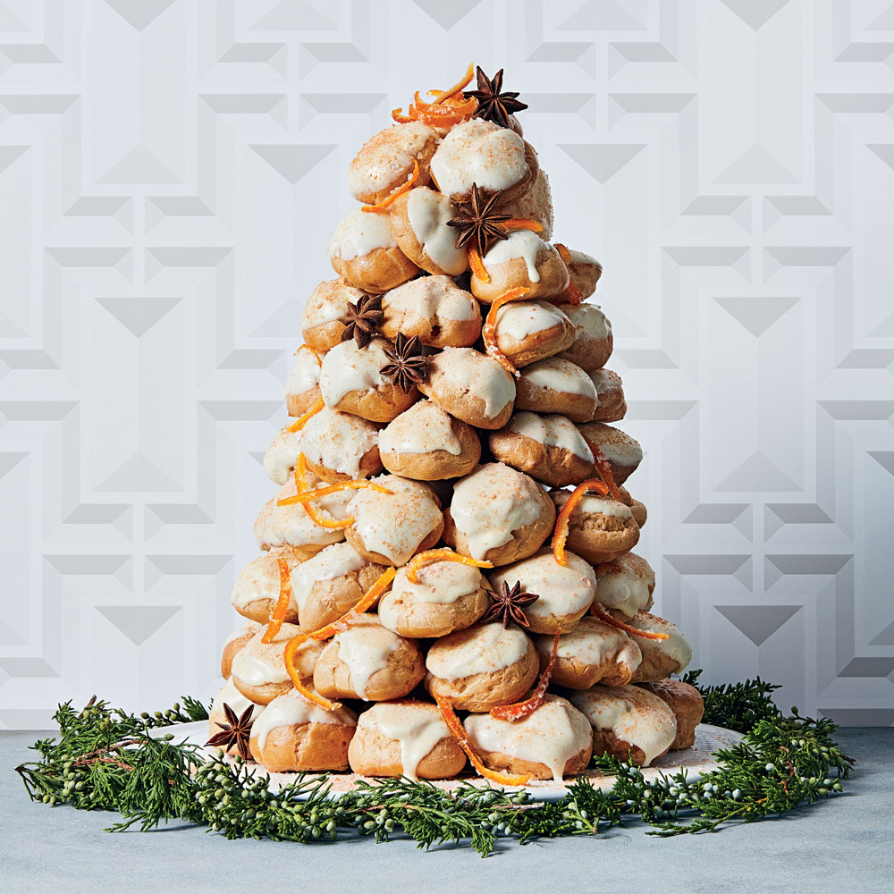 Orange-Anise Croquembouche with White Chocolate