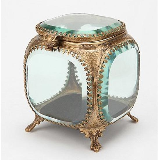 Beveled Glass Jewelry Box