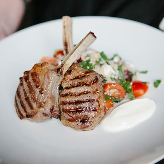 Lamb Cutlets with Quinoa Salad
