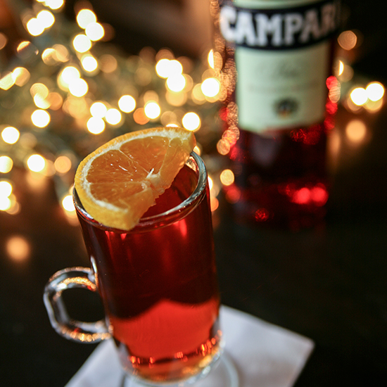 A Hot Campari Cocktail for Christmas