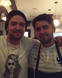Justin Timberlake and Ludo Lefebvre at Petit Trois