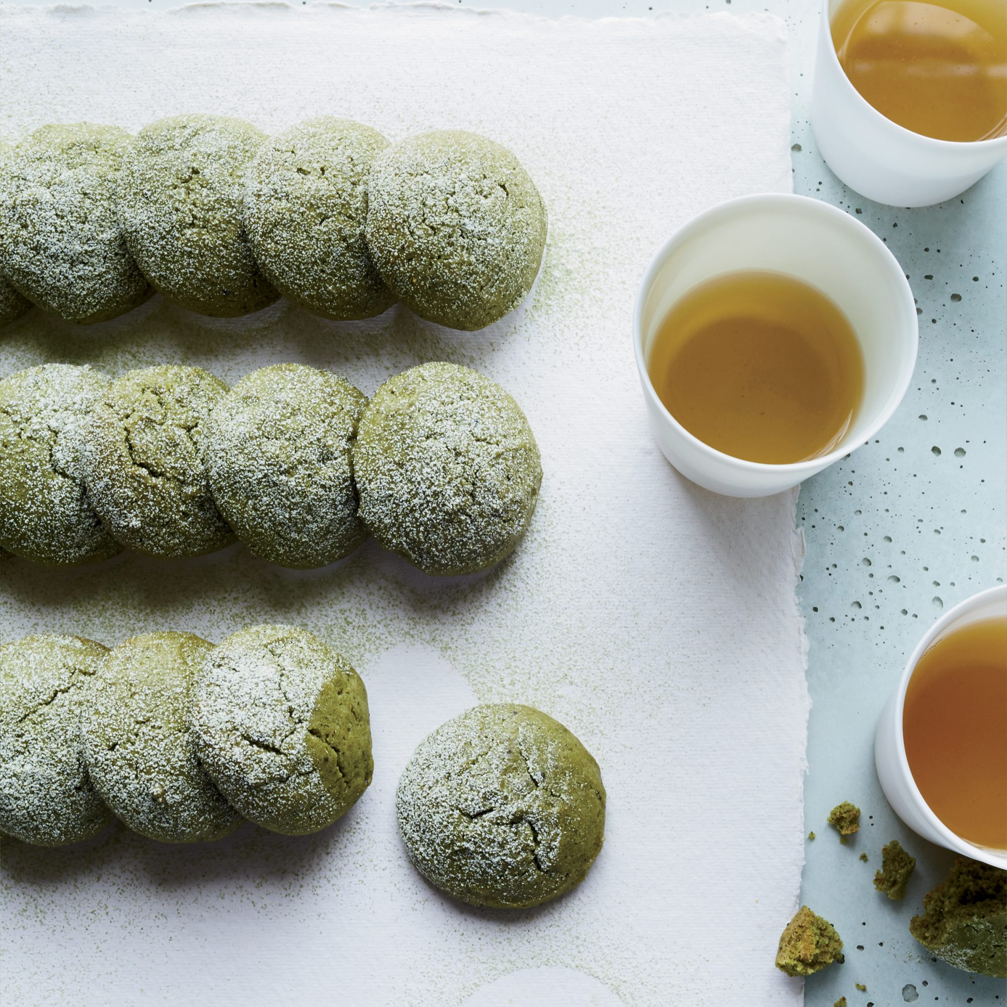 Matcha Tea Cake Cookies Recipe - Ben Mims | Food & Wine