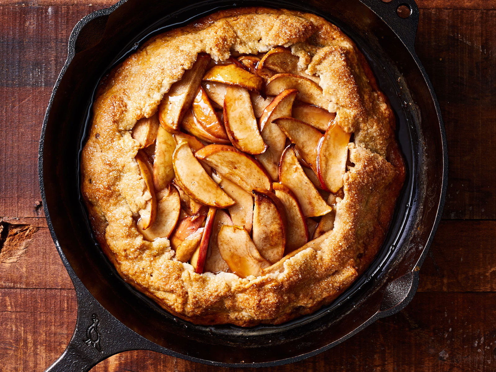 Grill Baked Apple Galette Recipe
