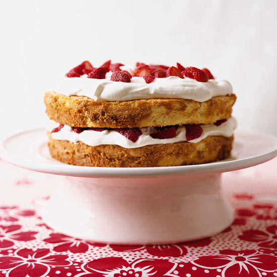 4th of July Cake Recipes like Strawberry Shortcake with Star Anise Sauce
