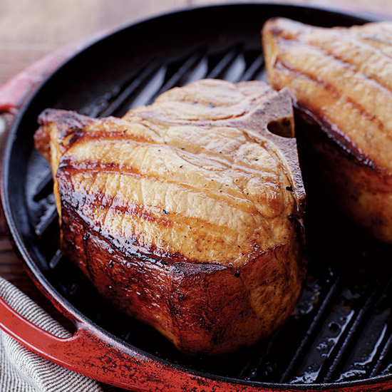 Grilled Maple-Brined Pork Chops