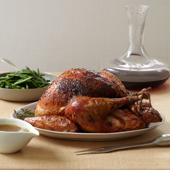 Roast Turkey with Shallot Butter and Thyme Gravy