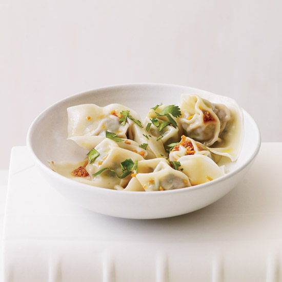 Spinach and Pork Wontons