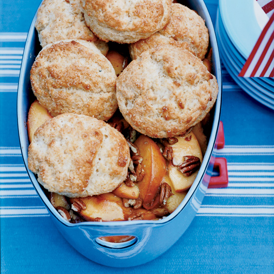 Buttermilk Biscuit Peach Cobbler