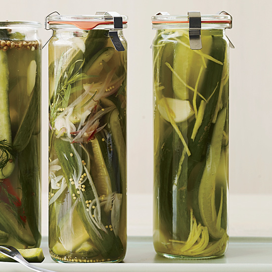 Winey-Briny Quick Pickles