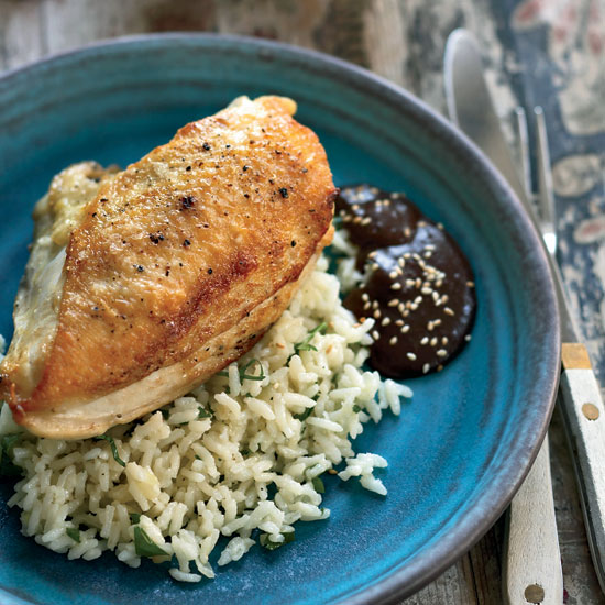 Pan-Roasted Chicken Breasts with Mole Negro