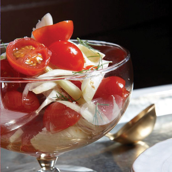 Pickled Cherry Tomatoes and Fennel