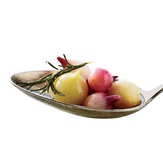Pickled Wild Onions with Honey and Wild Rosemary