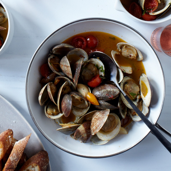 Clams with Hot Pepper, Saffron & Tomato Confit