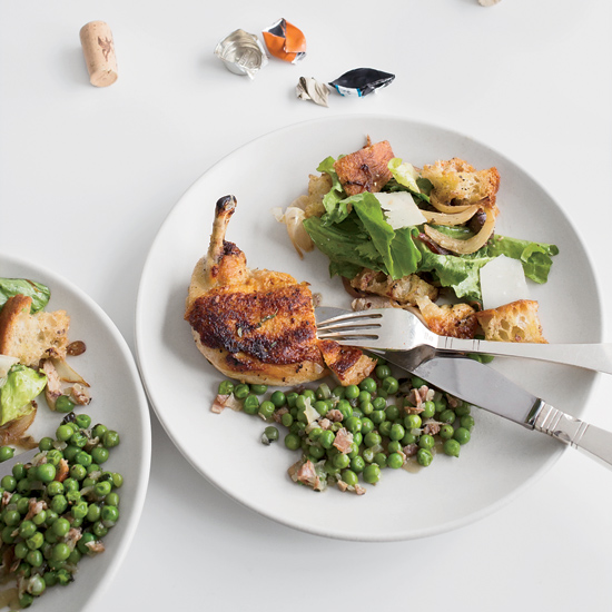 Herb-Butter Roast Chicken with Tuscan-Style Bread Salad