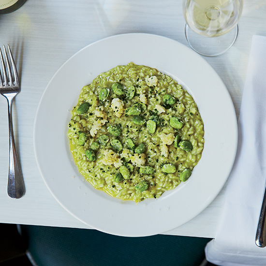 Fava Bean and Cauliflower Risotto