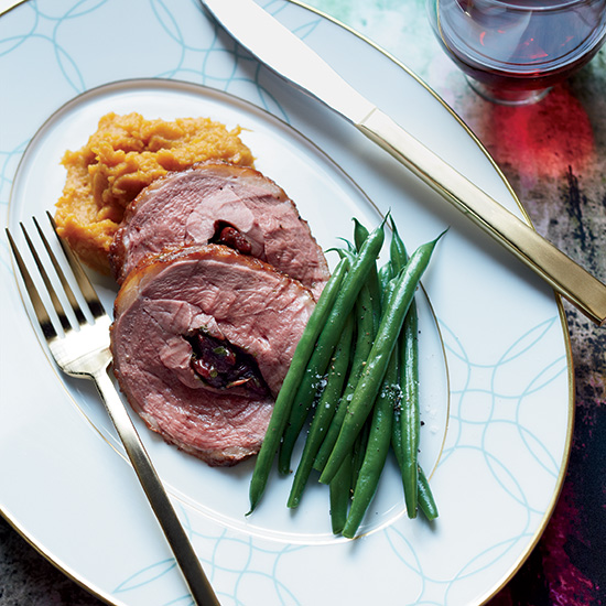 Sour-Cherry-Stuffed Duck Breasts with Thyme