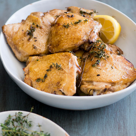 Lemon-and-Thyme Baked Chicken Thighs