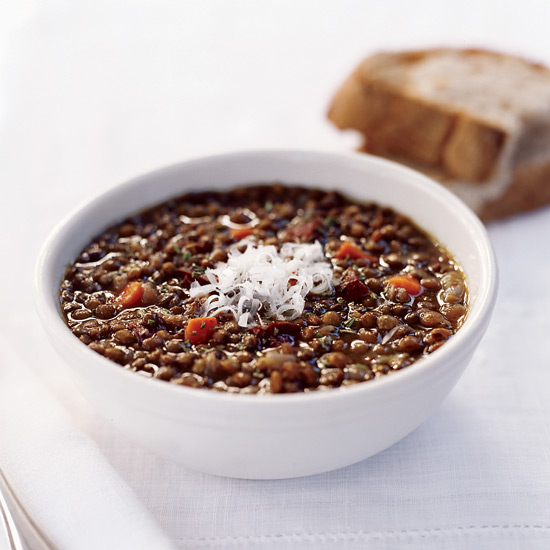 Lentil and Garlic-Sausage Soup