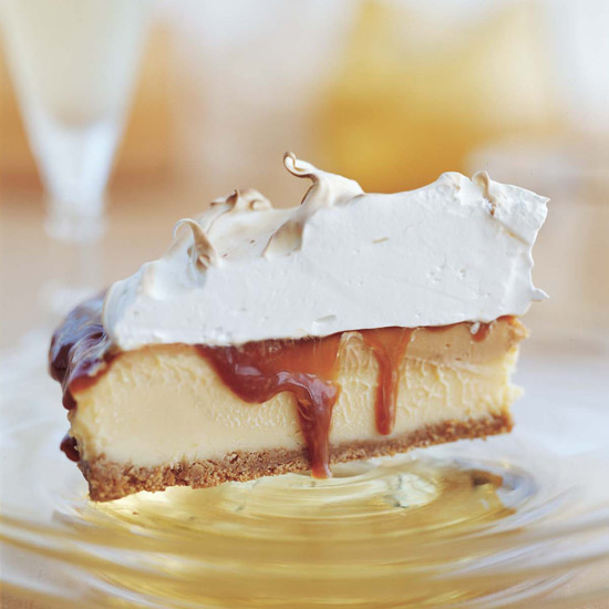 Chilled Grapefruit-Caramel Meringue Pie