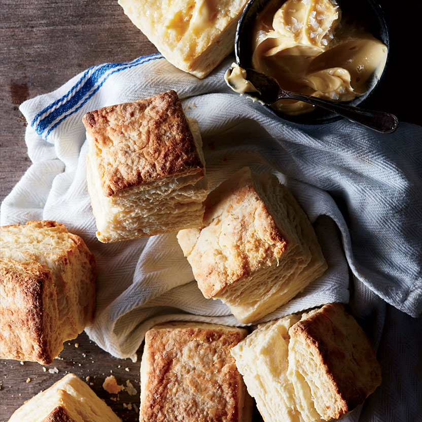 Buttermilk Biscuits with Salty Sorghum Butter