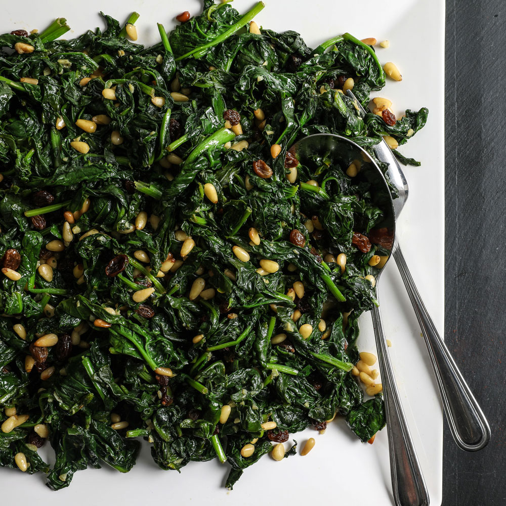 Catalan Style Spinach