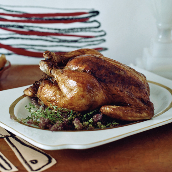 Roasted Chicken with Garlic-Thyme Butter