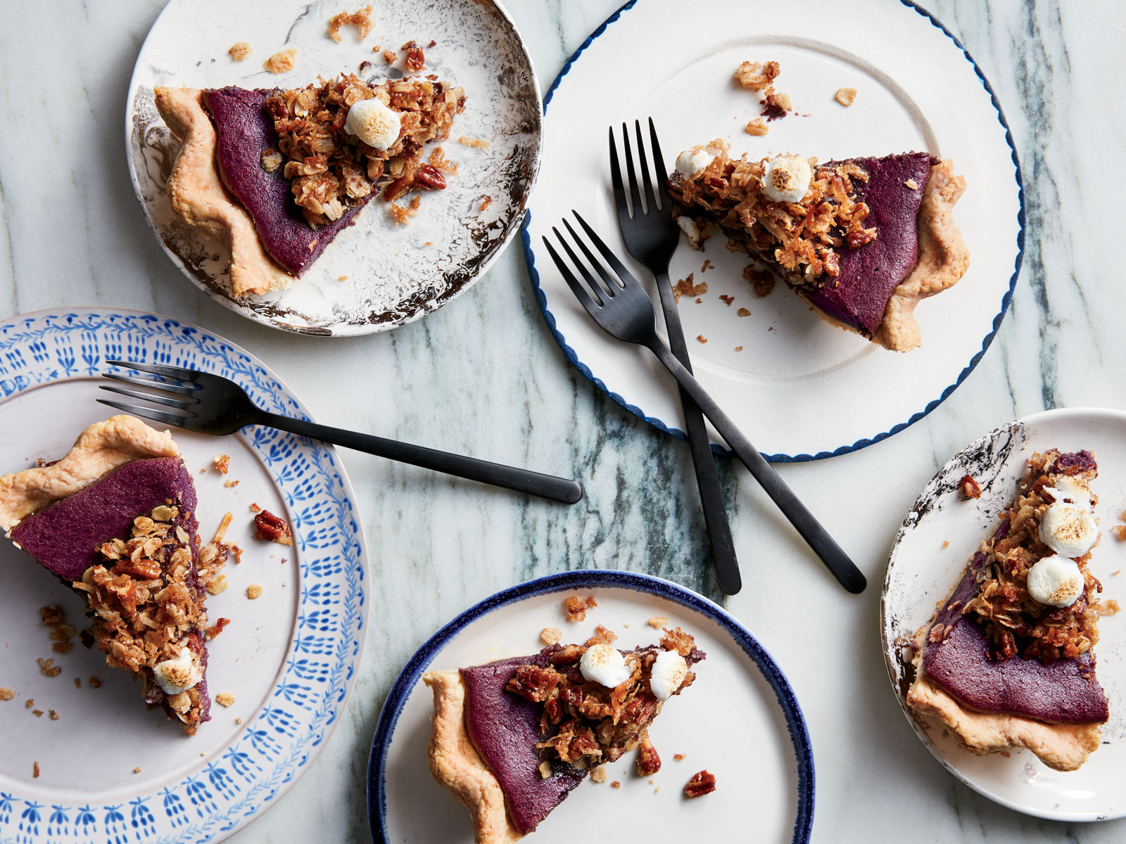 Purple Sweet Potato Pie with Coconut and Five,Spice