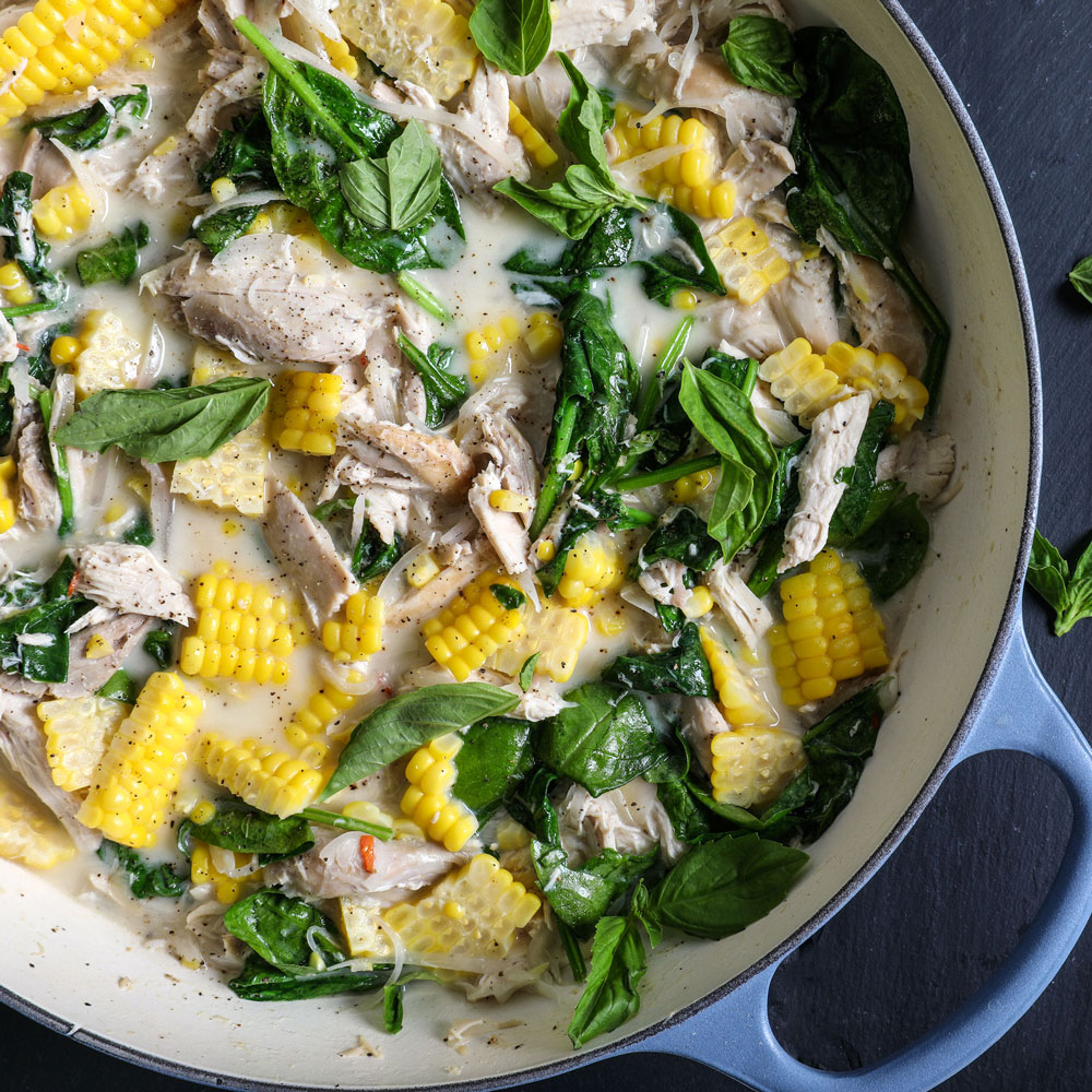 Spicy Coconut Chicken Stew with Corn