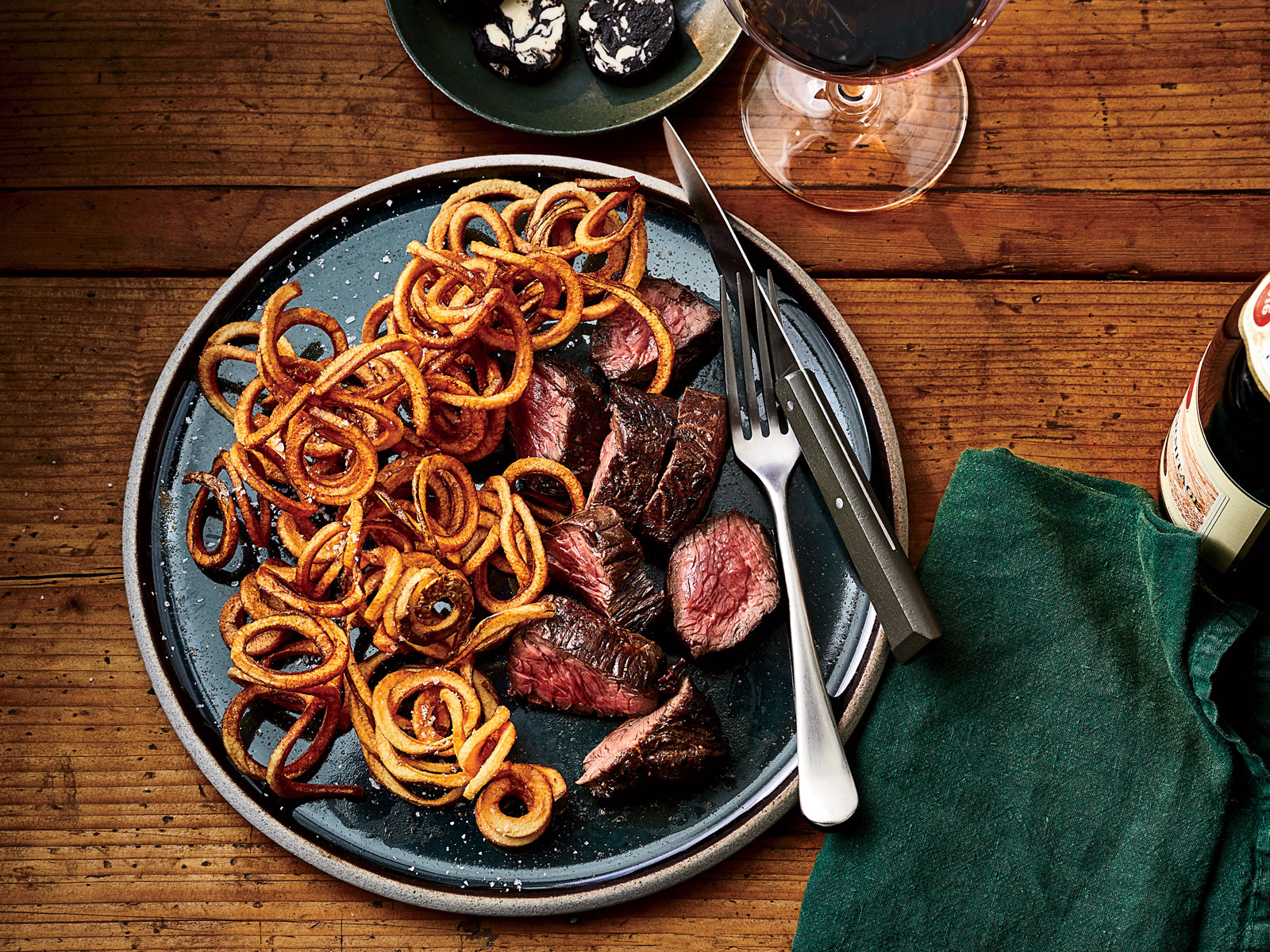 Steak Frites with Black Garlic Butter Recipe
