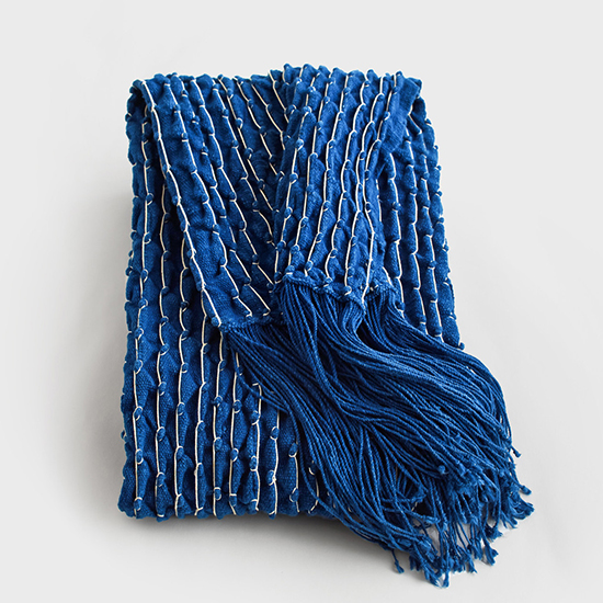 Aboubakar Fofana Dark Indigo Stitched Throw