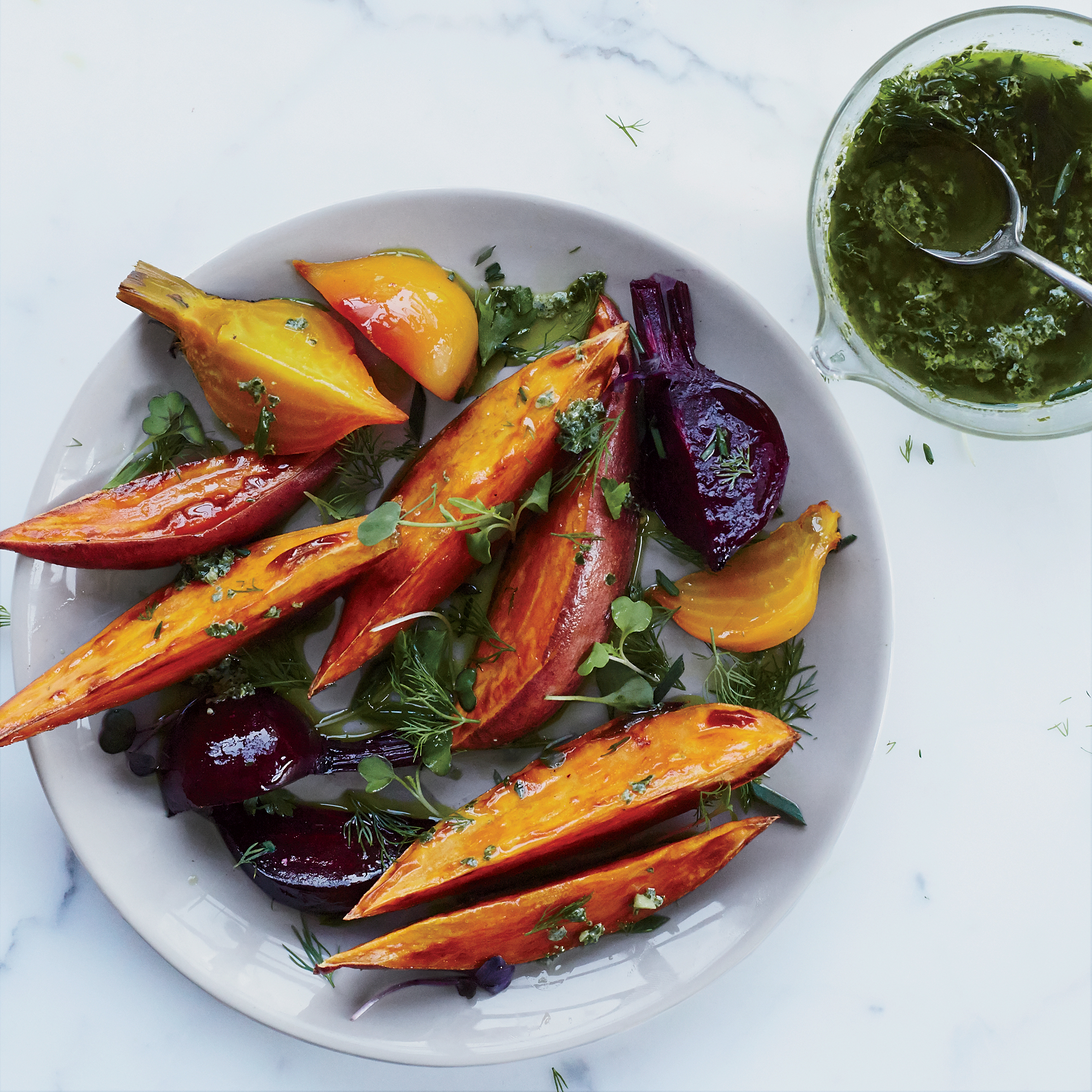 Kale-Buttermilk Dressing for Roasted Vegetables