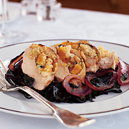 Moroccan Couscous-Stuffed Chicken Breasts