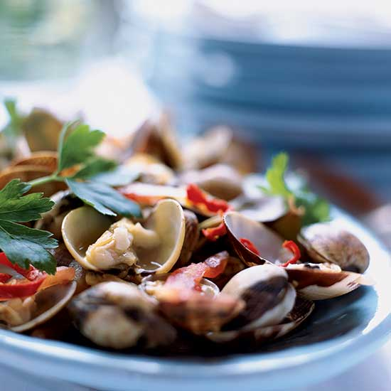 Spicy Clams with Tomatoes