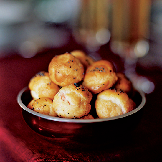 Smoked Salmon-Stuffed Puffs