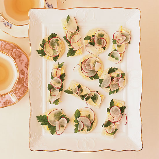 Radish, Parsley and Lemon-Butter Tea Sandwiches