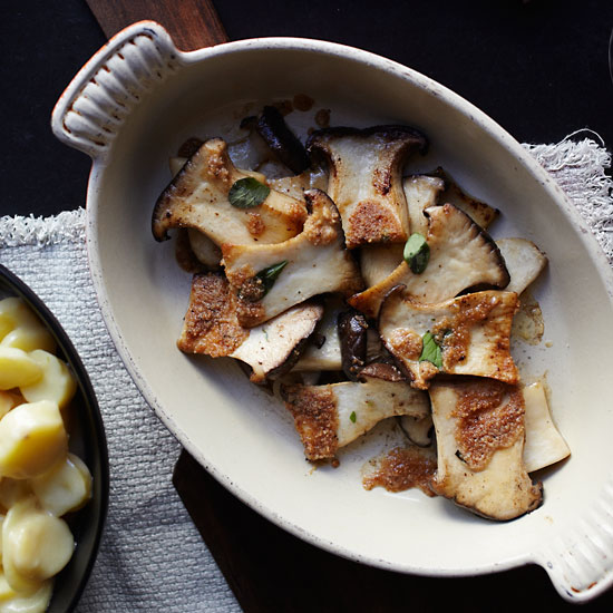 Roasted King Oyster Mushrooms